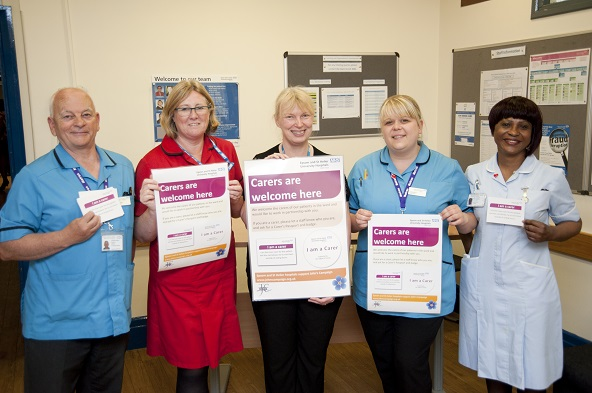 Epsom and St Helier nursing staff showing the pledge to John's Campaign
