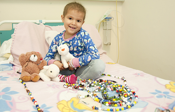 Rhea Oke and her Beads of Courage