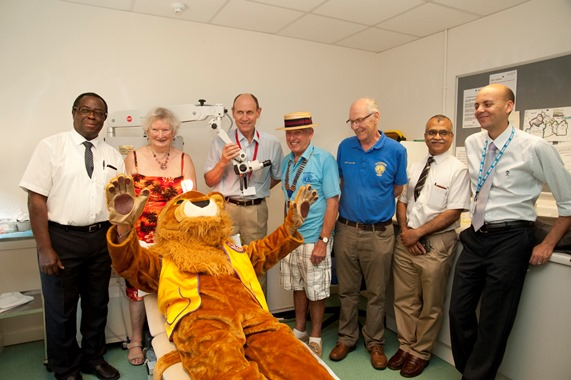 Photo of Bess Harding, Mr Peter Robb and ENT team, and Leatherhead Lions