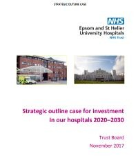 Image of cover of our strategic outline case document