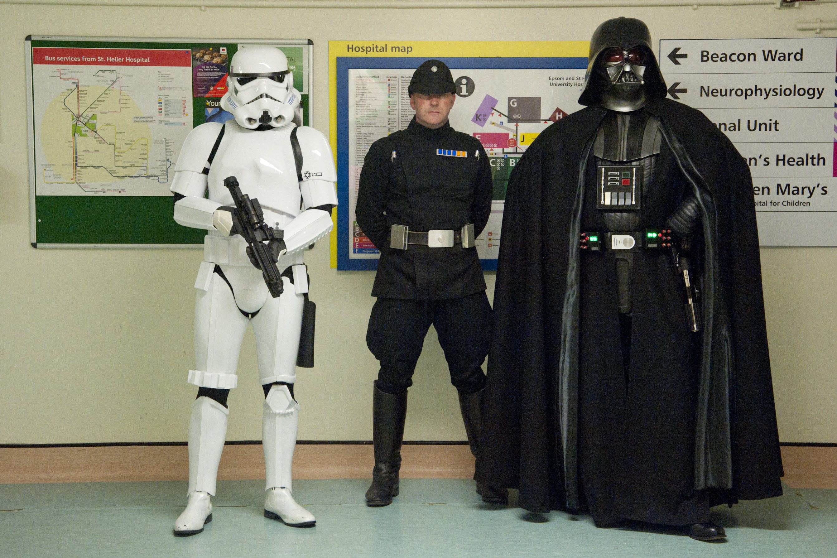 Stormtroopers and Darth Vader