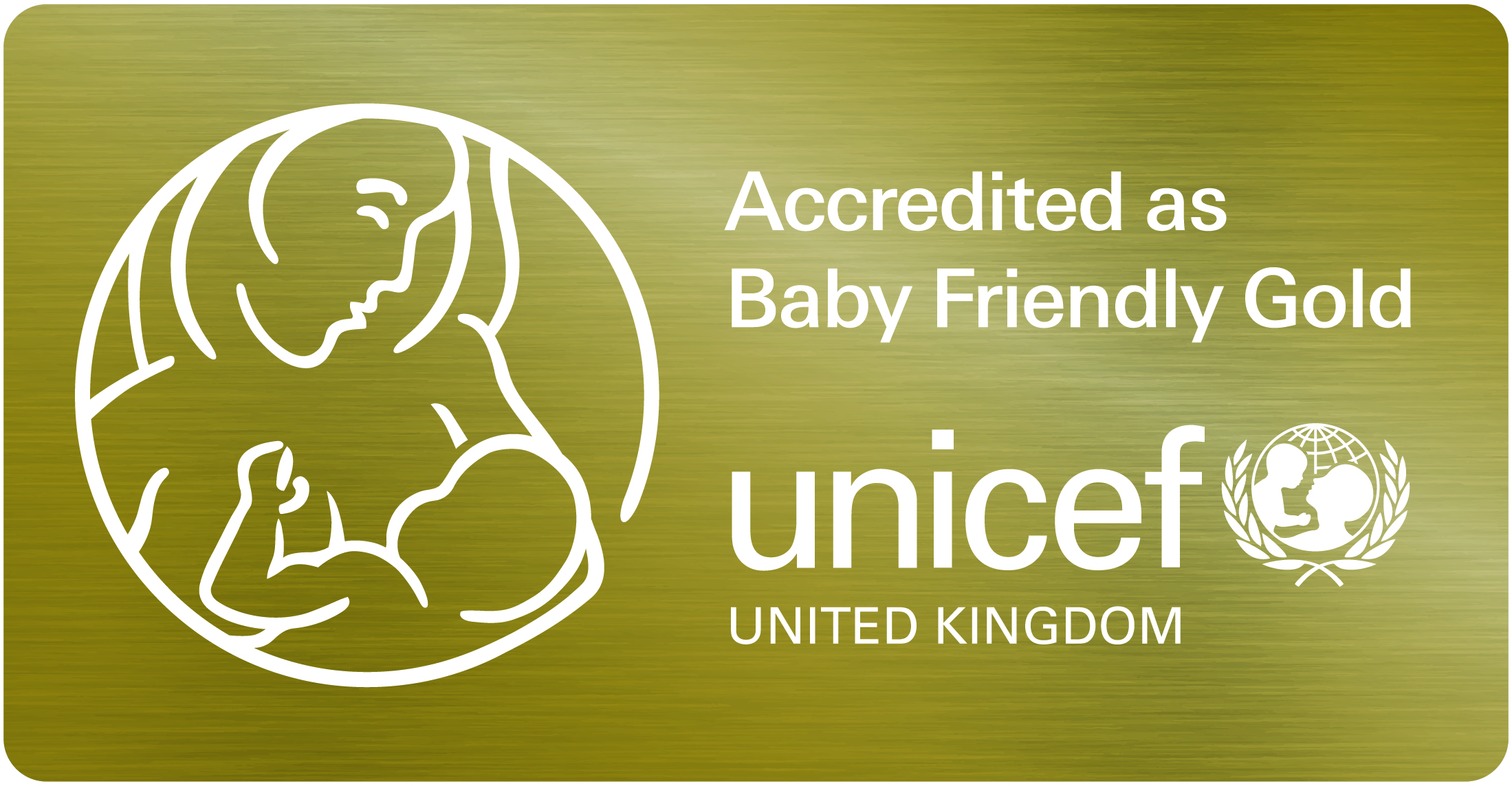 Accredited as Baby Friendly by Unicef logo
