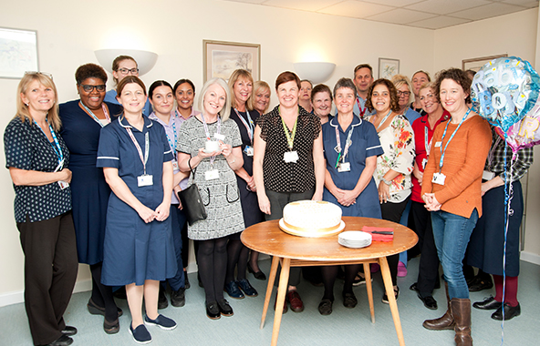 Our Epsom Maternity Team held a special Gold Award celebration. The team is pictured here standing in front of a celebratory cake