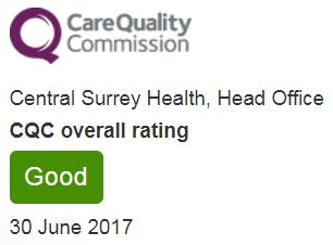 Epsom and St Helier are rated Good for this service by the CQC