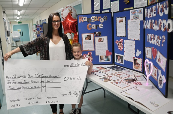Grateful family took on 'Nuts Challenge' for St Helier Hospital's Neonatal Unit