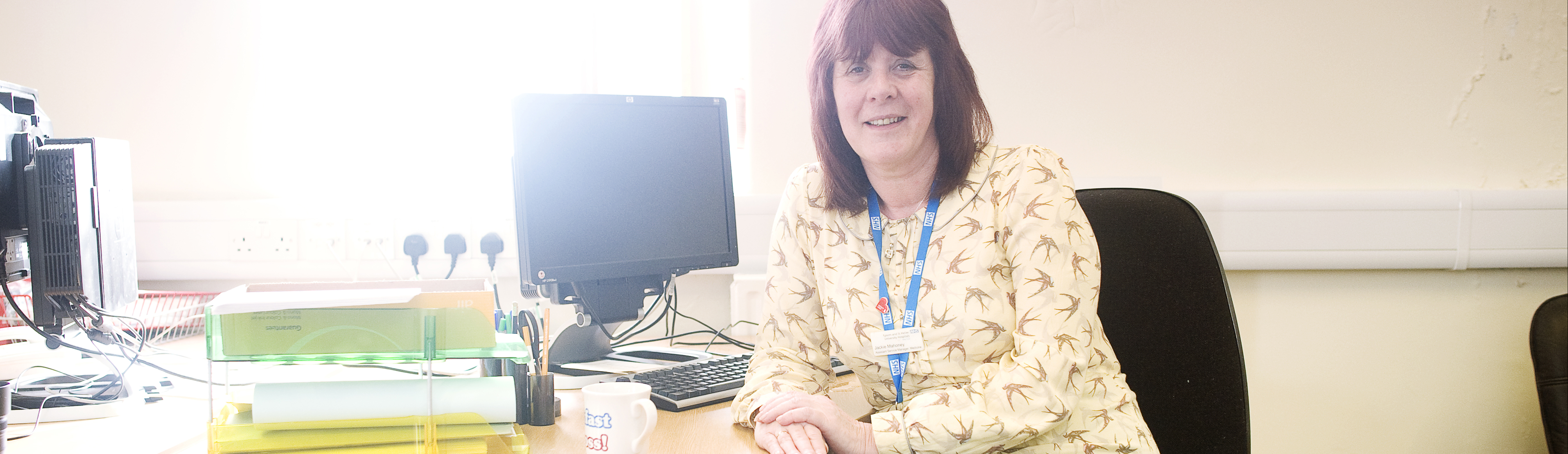 Jacqueline Mahoney, Assistant Service Manager, at her desk