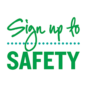 Sign up to safety logo