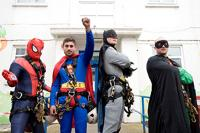 Ka-boom! The superheroes burst onto the scene at Queen Mary's Hospital for Children