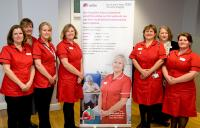 Senior nurses in distinctive new uniforms